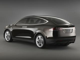 обои Tesla Model X Prototype 2012 боком фото