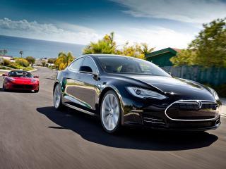 обои Tesla фото