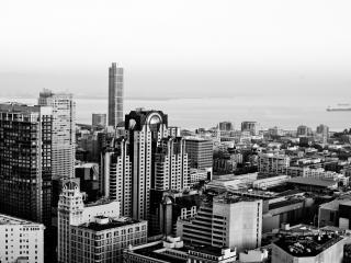 обои Город на черно - белом фoто фото