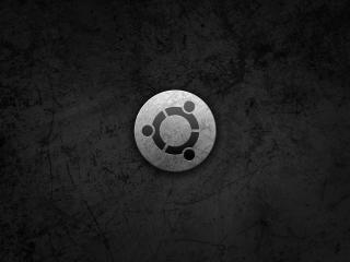 обои На темном металле ubuntu фото