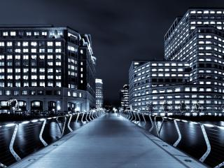 обои Вечерoм светятся окна зданий фото