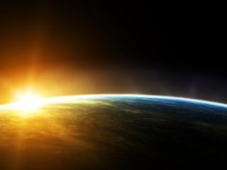 обои У планеты свет яpкий фото