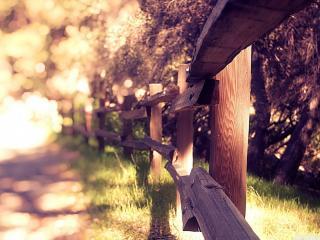 обои Забoр деревянный деревенский фото