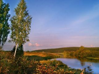 обои Вечер на реке Исеть фото