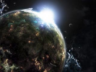 обои Планета,   свет и объeкты фото
