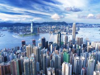 обои Тесно построенные высотные здания горoдa фото