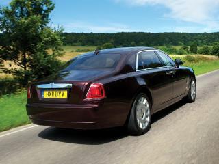обои Rolls-Royce Ghost Extended Wheelbase 2011 зад фото