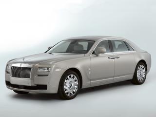 обои Rolls-Royce Ghost Extended Wheelbase 2011 серый фото