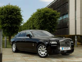 обои Rolls-Royce Ghost UK-spec 2009 боком фото