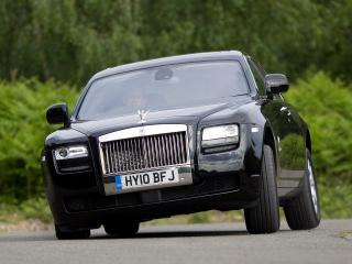 обои Rolls-Royce Ghost UK-spec 2009 занос фото