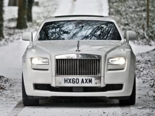 обои Rolls-Royce Ghost UK-spec 2009 зима фото