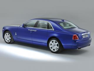 обои Rolls-Royce Ghost UK-spec 2009 синий фото