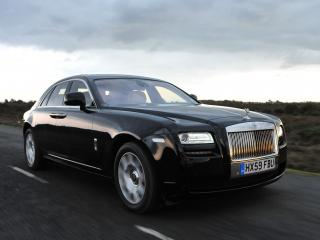обои Rolls-Royce Ghost UK-spec 2009 черный фото