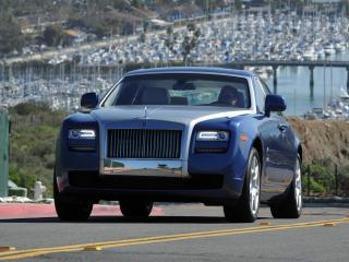 обои Rolls-Royce Ghost US-spec 2009 синий фото