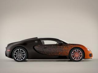 обои Bugatti Veyron Grand Sport Roadster Venet 2012 бок фото