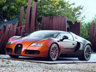 обои Bugatti Veyron Grand Sport Roadster Venet 2012 боком фото