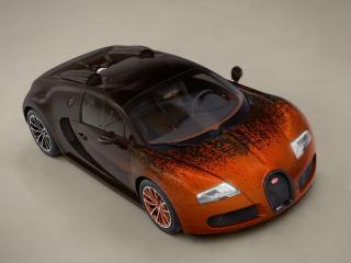 обои Bugatti Veyron Grand Sport Roadster Venet 2012 капот фото