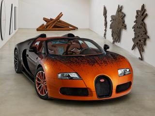 обои Bugatti Veyron Grand Sport Roadster Venet 2012 передок фото