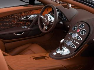 обои Bugatti Veyron Grand Sport Roadster Venet 2012 руль фото