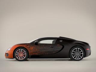обои Bugatti Veyron Grand Sport Roadster Venet 2012 сбоку фото