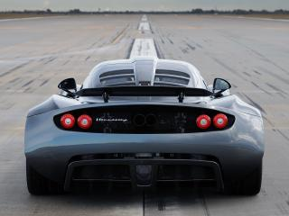 обои Hennessey Venom GT World Speed Record Car 2013 сзади фото