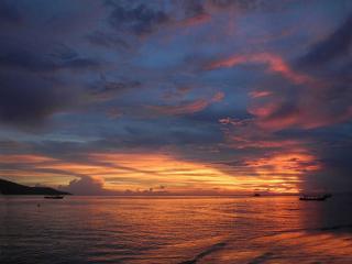 обои Тихий морской закат фото