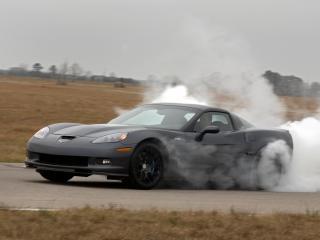 обои Hennessey Corvette ZR700 (C6) 2009 дым фото