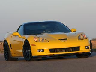 обои Hennessey Corvette ZR700 (C6) 2009 желтый фото