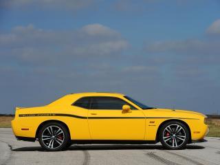 обои Hennessey Dodge Challenger SRT8 392 Yellow Jacket 2013 бок фото