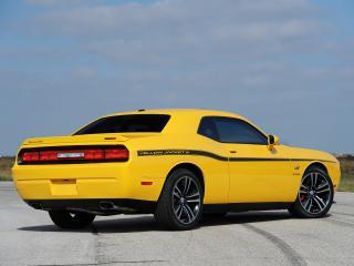 обои Hennessey Dodge Challenger SRT8 392 Yellow Jacket 2013 зад фото