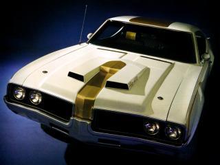 обои Hurst-Olds 442 Holiday Coupe (4487) 1969 капот фото