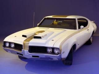 обои для рабочего стола: Hurst-Olds 442 Holiday Coupe (4487) 1969 перед