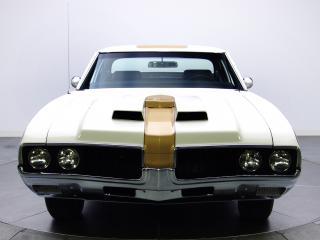 обои Hurst-Olds 442 Holiday Coupe (4487) 1969 спереди фото