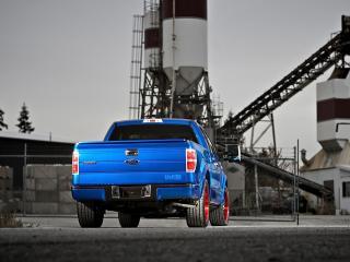 обои H&R Ford F-150 2008 зад фото