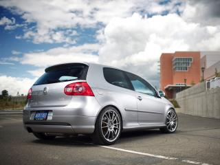 обои H&R Volkswagen GTI Project (Typ 1K) 2007 зад фото