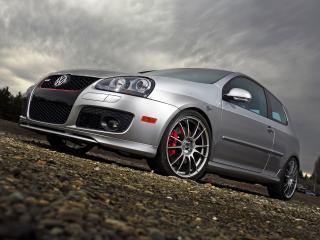 обои H&R Volkswagen GTI Project (Typ 1K) 2007 низ фото