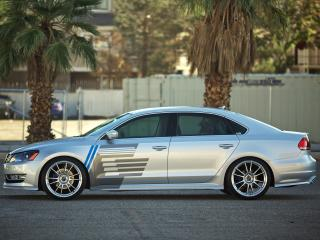обои H&R Volkswagen Passat US-spec (B7) 2011 бок фото