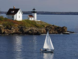 обои Curtis Island Lighthouse, Near Camden, Maine фото
