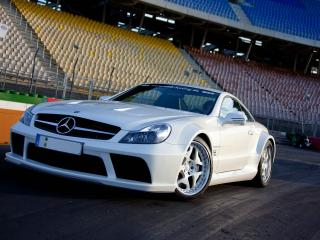 обои MKB P 1000 Mercedes-Benz SL 65 AMG Black Series 2010 белая фото