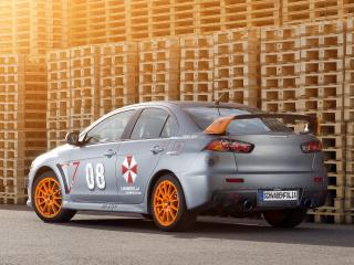 обои SchwabenFolia Mitsubishi Lancer Evolution X Stealth Fighter 2013 зад фото