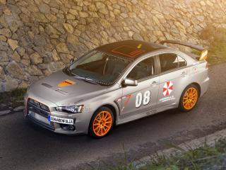 обои SchwabenFolia Mitsubishi Lancer Evolution X Stealth Fighter 2013 сбоку фото