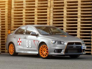 обои SchwabenFolia Mitsubishi Lancer Evolution X Stealth Fighter 2013 спереди фото