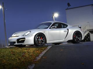 обои SR Auto Porsche Cayman Project Hermera (987C) 2011 белая фото