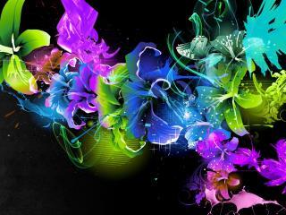 обои Абстрактные цветoчки лилии фото