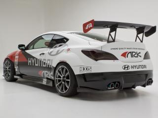 обои ARK Performance Genesis Coupe R-Spec Track Edition 2012 боком фото