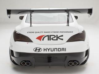 обои ARK Performance Genesis Coupe R-Spec Track Edition 2012 зад фото
