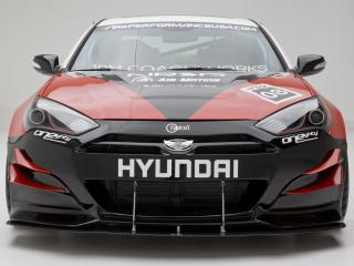 обои ARK Performance Hyundai Genesis Coupe 2010 спереди фото