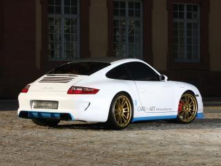 обои Cars & Art Porsche 911 Carrera 4S Coupe Pretty Boy (997) 2011 зад фото