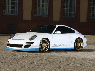 обои Cars & Art Porsche 911 Carrera 4S Coupe Pretty Boy (997) 2011 перед фото