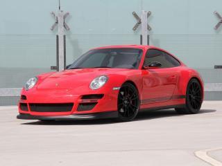 обои Cars & Art Porsche 911 Carrera 4S Coupe Roter Baron (997) 2012 перед фото